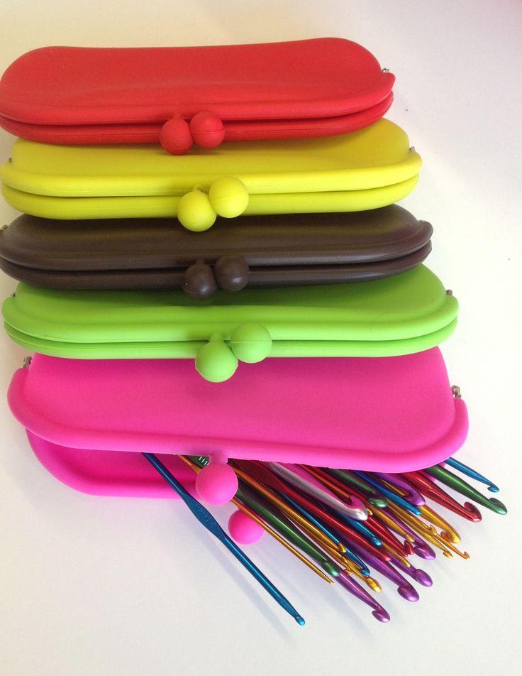 Rubber cases for crochet hooks or glasses