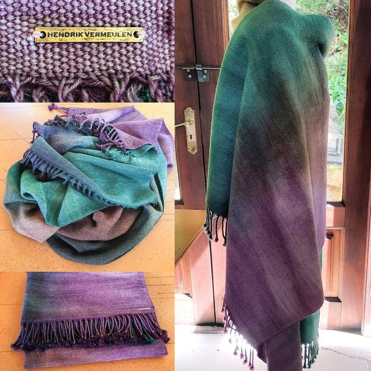Hand dyed handwoven Merino/ Kid Mohair wrap