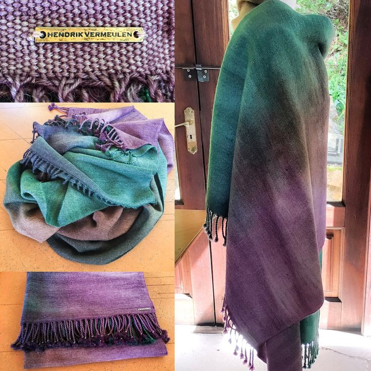 Hand dyed handwoven Merino/ Kid Mohair wrap
