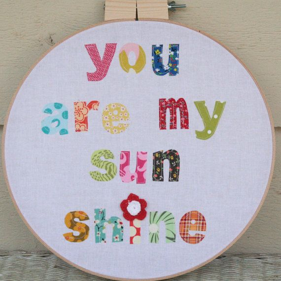You Are My Sunshine A handmade embroidery by dandelionsanddoodles, $35.00Wood Embroidery Hoop Crafts, Hoop Embroidery, Hoop Art, Baby Blankets, Sunshine, Baby Girls, 40 00, Embroidery Hoops, Handmade Embroidery