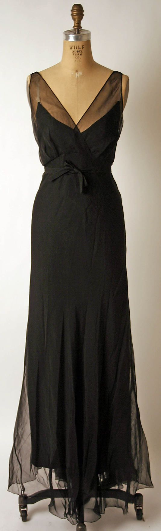 fashion & evening <3 timeless dress - Nettie Rosenstein 1930's...