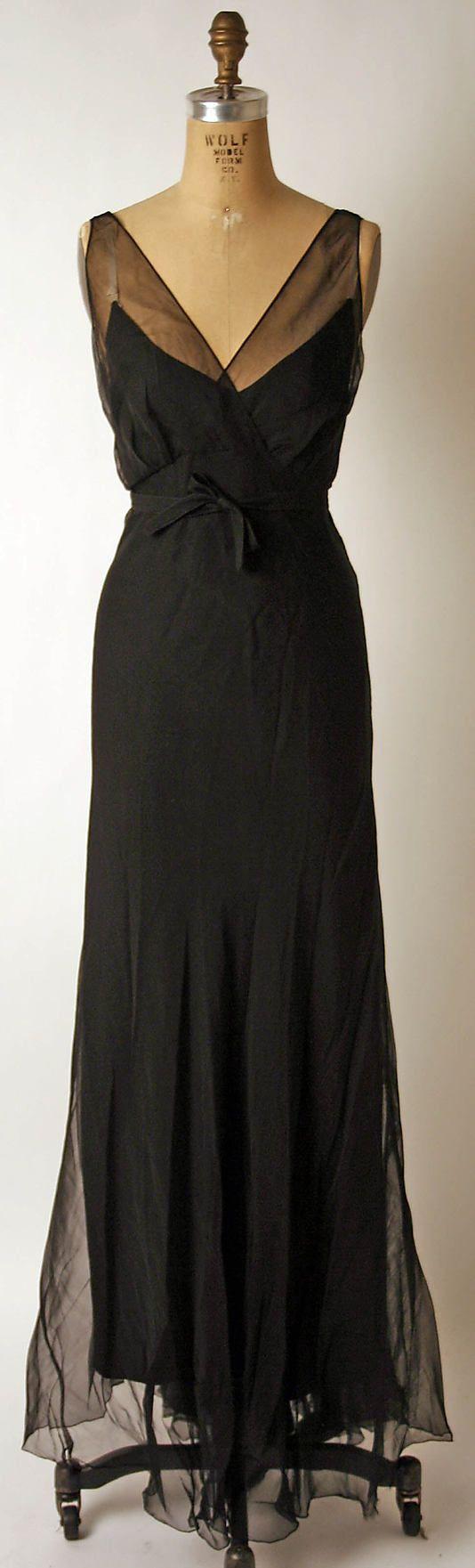 Black dress vintage - Fashion Evening 3 Timeless Dress Nettie Rosenstein 1930 S