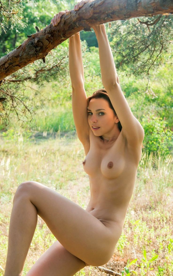 Black in nature nude woman