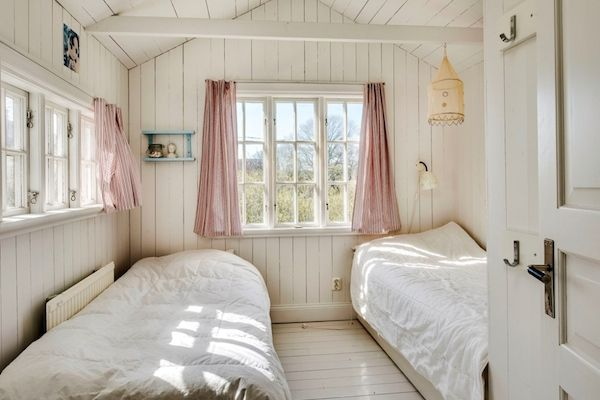 the walls, the ceiling, the windows... I love it all. A Swedish summer home on Gotland