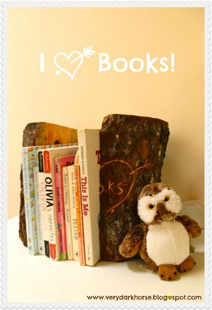 the golden adventures of...: 'Carve Your Love' Rustic Bookends DIY