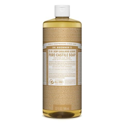 Dr Bronners - 18 in 1 Pure Castile Sandalwood and Jasmine Liquid Soap