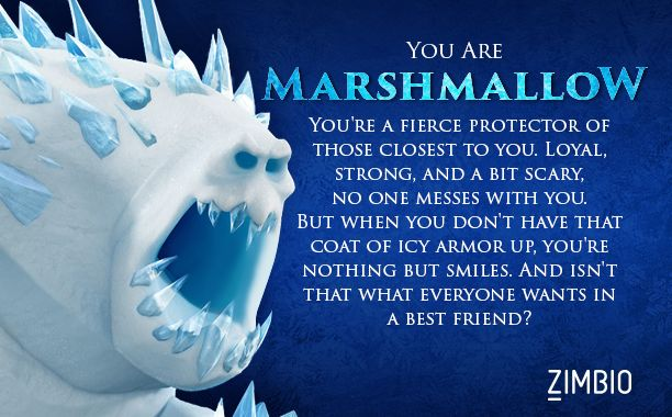 Frozen characters marshmallow which frozen character are you quizes