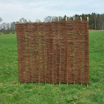 Sichtschutzzaun - Weidenzaun / Flechtzaun 'Stick' als Sichtschutz und Windschutz