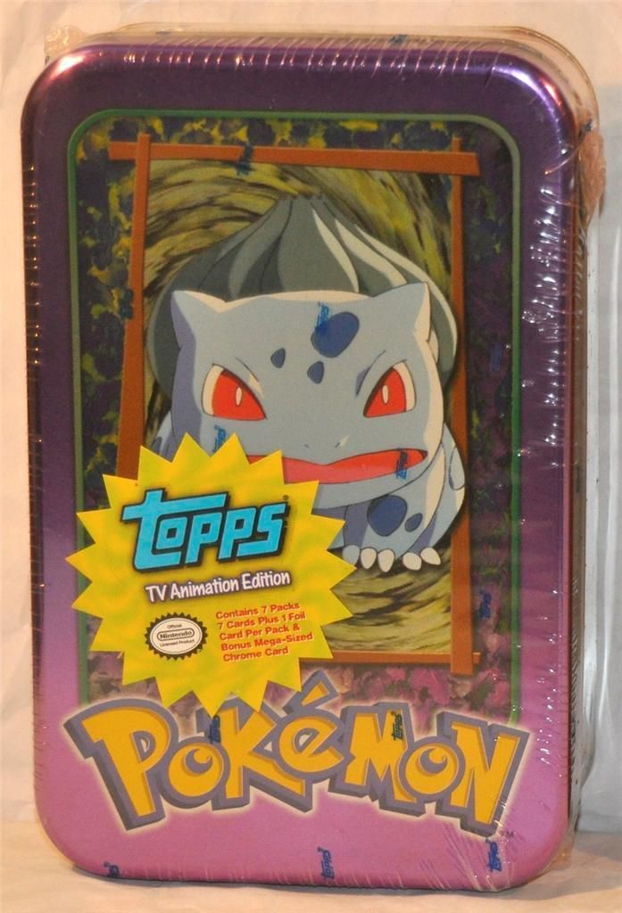 Pokemon TV Animation Edition Tin Factory Sealed Topps 99 purple Bulbasaur top!!+ | eBay