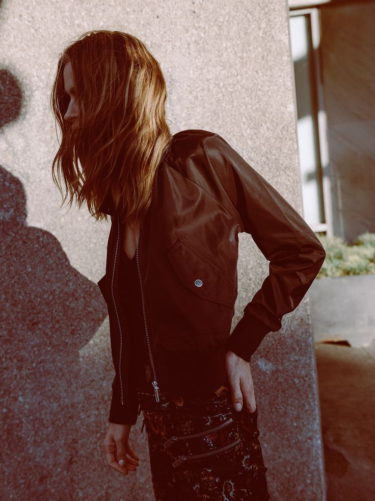 Midnight Bomber | Lightweight bomber jacket with an ultra cool girl feel…