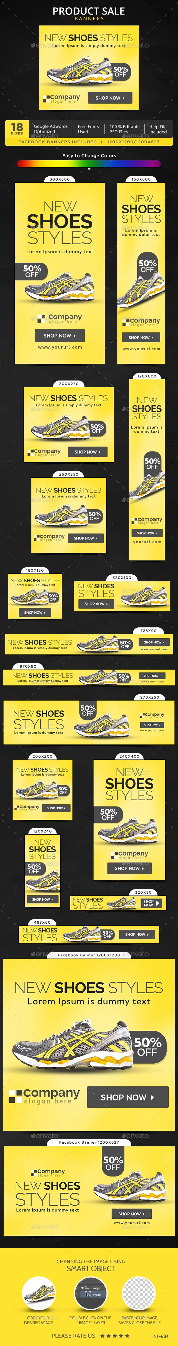 Product Sale Web Banners Template #design #ad Download: http://graphicriver.net/item/product-sale-banners/13110253?ref=ksioks