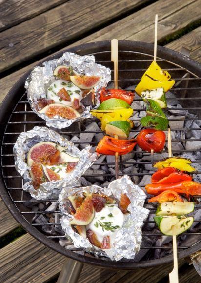 Rezept: Gemüsespiesse mit Ziegenkäse-Päckchen