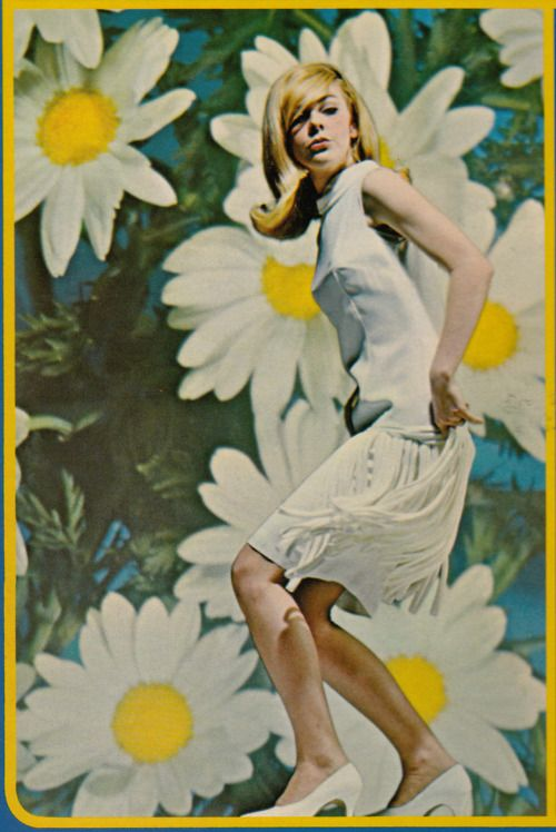 Daisies were big in the sixties and seventies...   Had them on my 1967 Prom Dress!!!!!