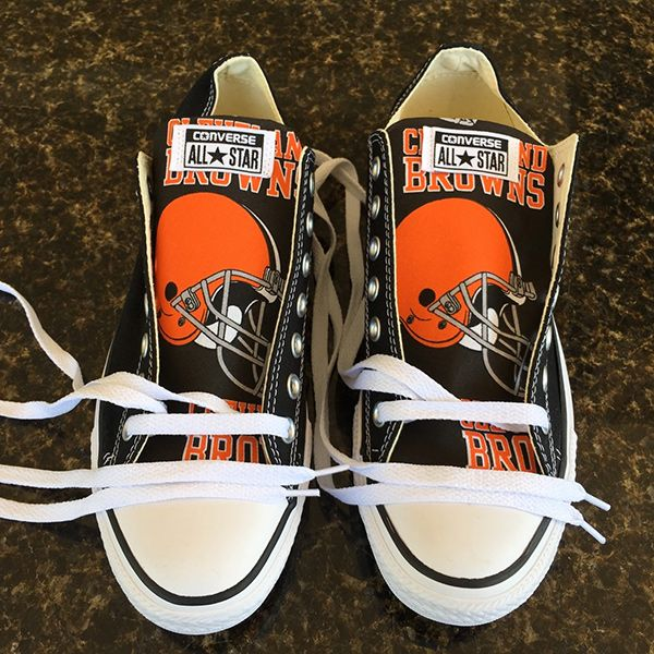 Cleveland Browns Converse Sneakers - http://cutesportsfan.com/cleveland-browns-designed-sneakers/