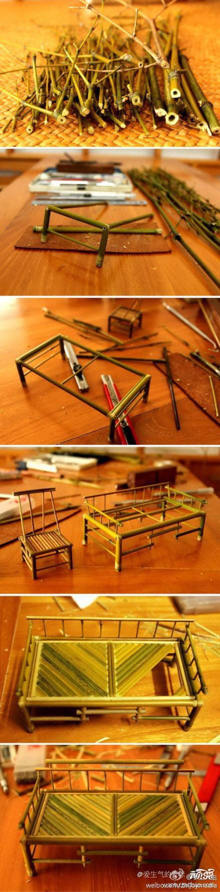 DIY Mini Bamboo Furnitures