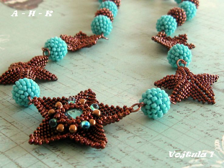 Necklace, Starfish, Swarovski rivoli