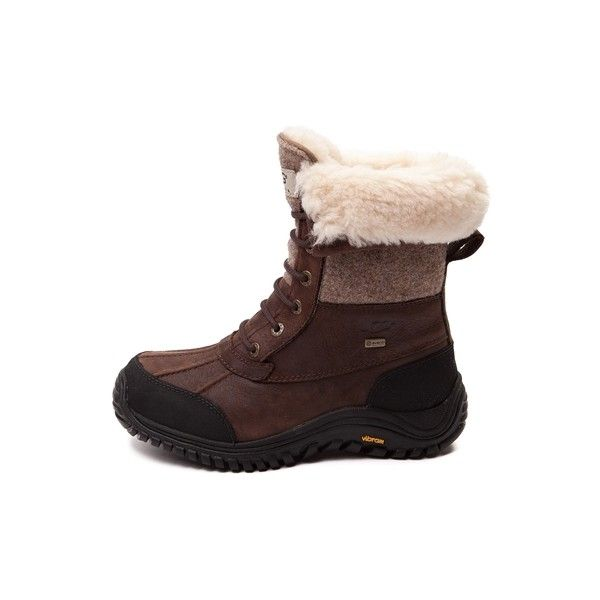 Womens UGG® Adirondack II Boot ($225) ❤ liked on Polyvore featuring shoes, boots, leather upper boots, lacing boots, waterproof boots, synthetic boots and vintage shoes