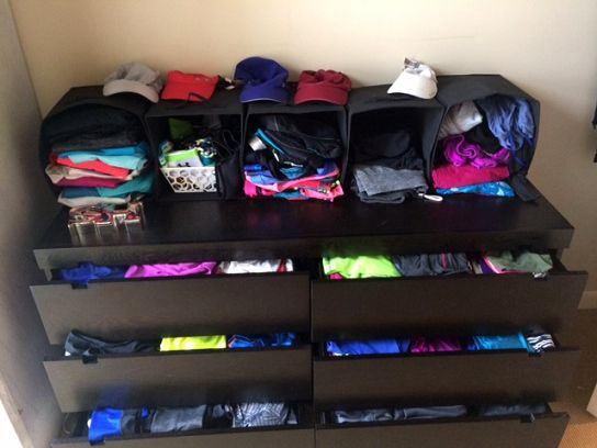 17 best images about workout clothes organizer on Best way to organize clothes