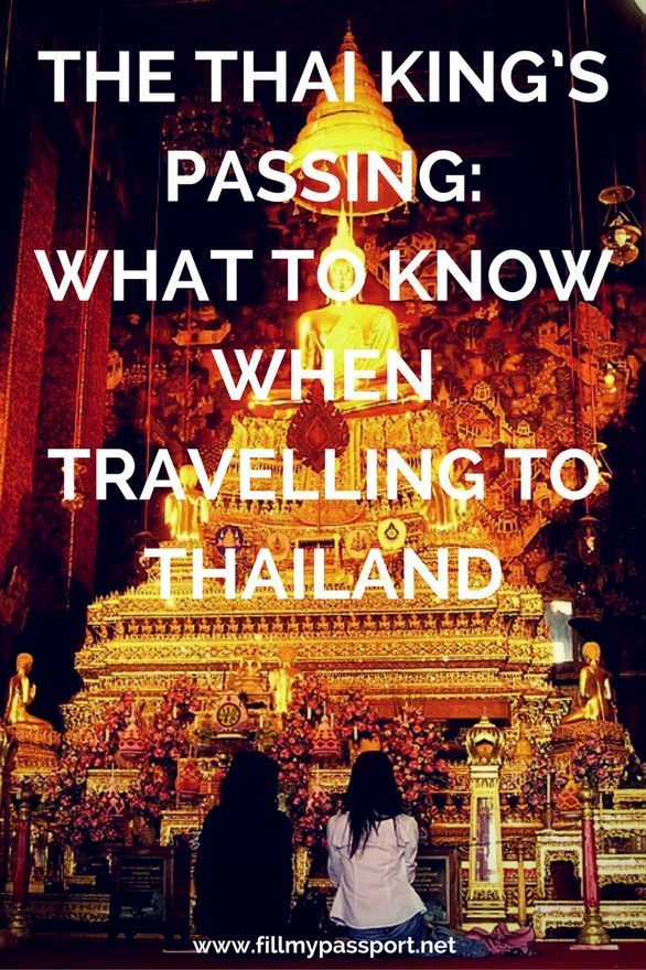 traveling thailand after kings passing