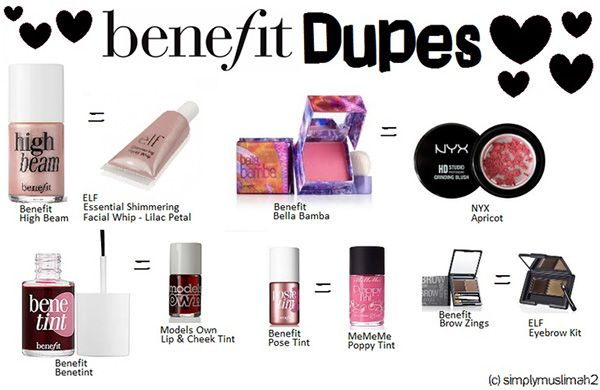 Benefit Makeup Dupes! What's your favorite benifit product?