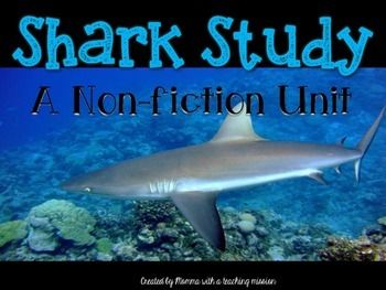 Non-fiction Shark Unit I am so excited about this unit! My students love sharks, and they were so engaged in these lessons! These lessons are common core aligned, and were made for 1st grade, but would also work for 2nd or low reading 3rd graders. Included in this pack: *16 vocabulary words and matching 16 definitions *Real Photograph of a shark, with labels *Printable to label shark *2 real photographs with text (one about senses, the other cartilage) *Writing Prompt-how is cartilage ...