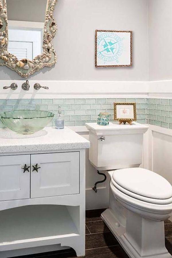 Beautiful Coastal Nautical Bathroom Remodel Ideas 30 Coastal Bathroom Decor Bathroom Design Decor Beach House Bathroom