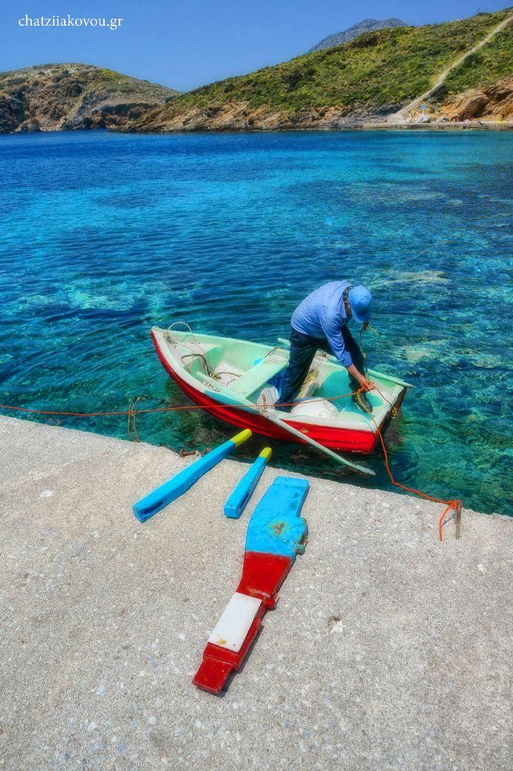 fisherman at fourni island, Greece