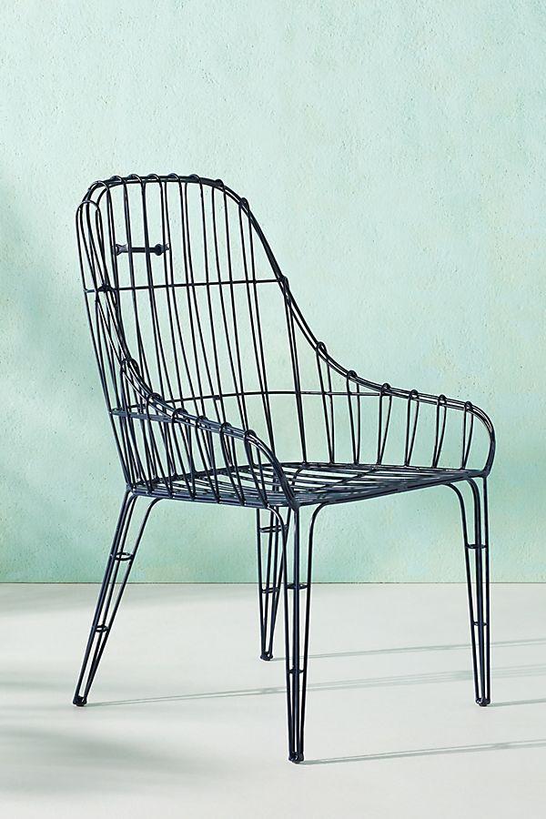 Wire Elowen Indoor Outdoor Dining Chair Chair