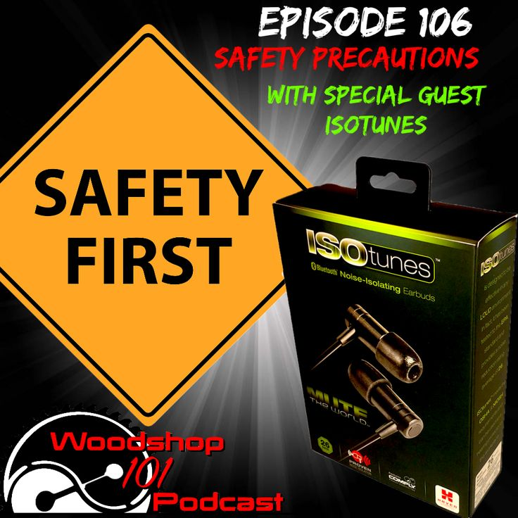 Woodshop 101 #106 : Safety Precautions with ISOTunes by Jeremy Crawford, Sam Wooddell, & ISOTunes  http://www.countrysideworkshop.com/audiopodcast/episode106  #woodshop101 #woodshop101podcast #ws101 #woodworkingpodcast