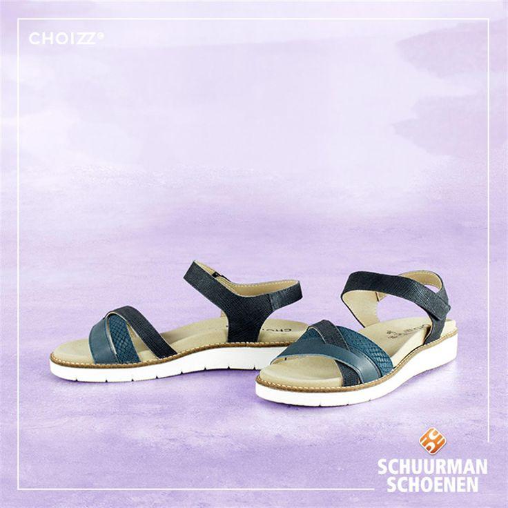 Choizz comfortabele dames sandalen - blauw