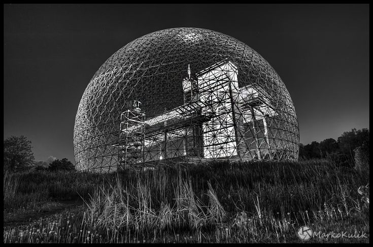 Montreal Biosphere - As I'm taking this image some skunk comes out of the bushes and eyes me down. I quickly finish and walk away….slowly.