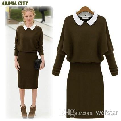 Cheap Sweater DRESS - Best 039 S Woolen Dress Sweaters Casual Jersey Dresses Online with $23.57/Piece | DHgate