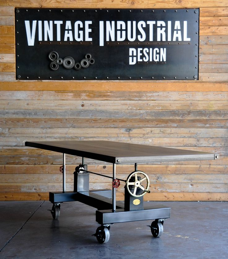 Our Crank table refined with walnut top and Brass handle...