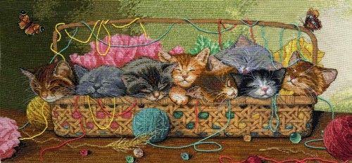 Вышивка Новорожденные котята (Größe)