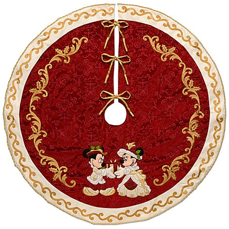 Minnie and Mickey Mouse Holiday Tree Skirt   Decor ...