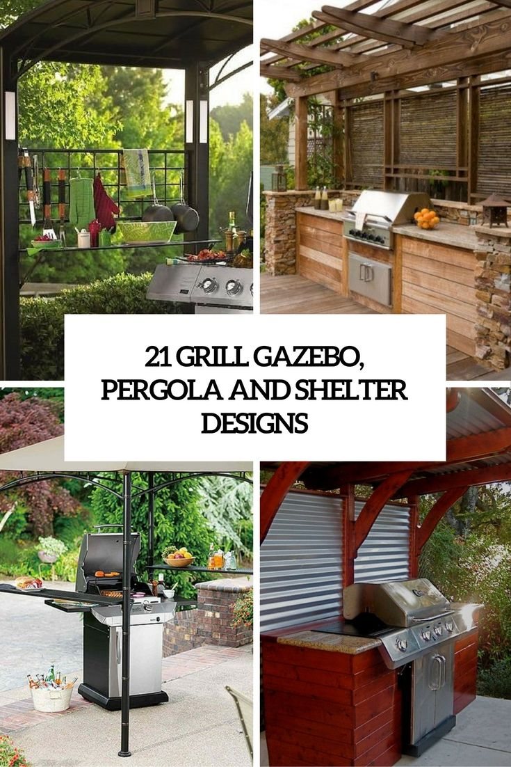 grill gazebo, shelter and pergola designs cover