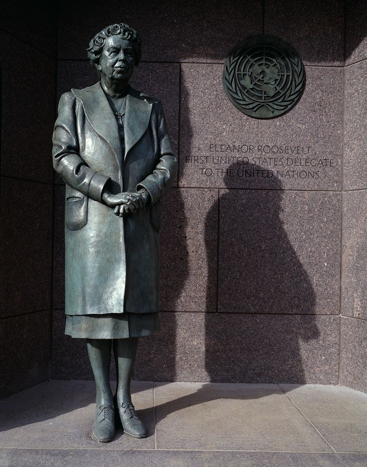 Hayden's favorite historical figure: Eleanor Roosevelt. Statue of First Lady Eleanor Roosevelt at the Franklin Delano Roosevelt Memorial, Washingt…
