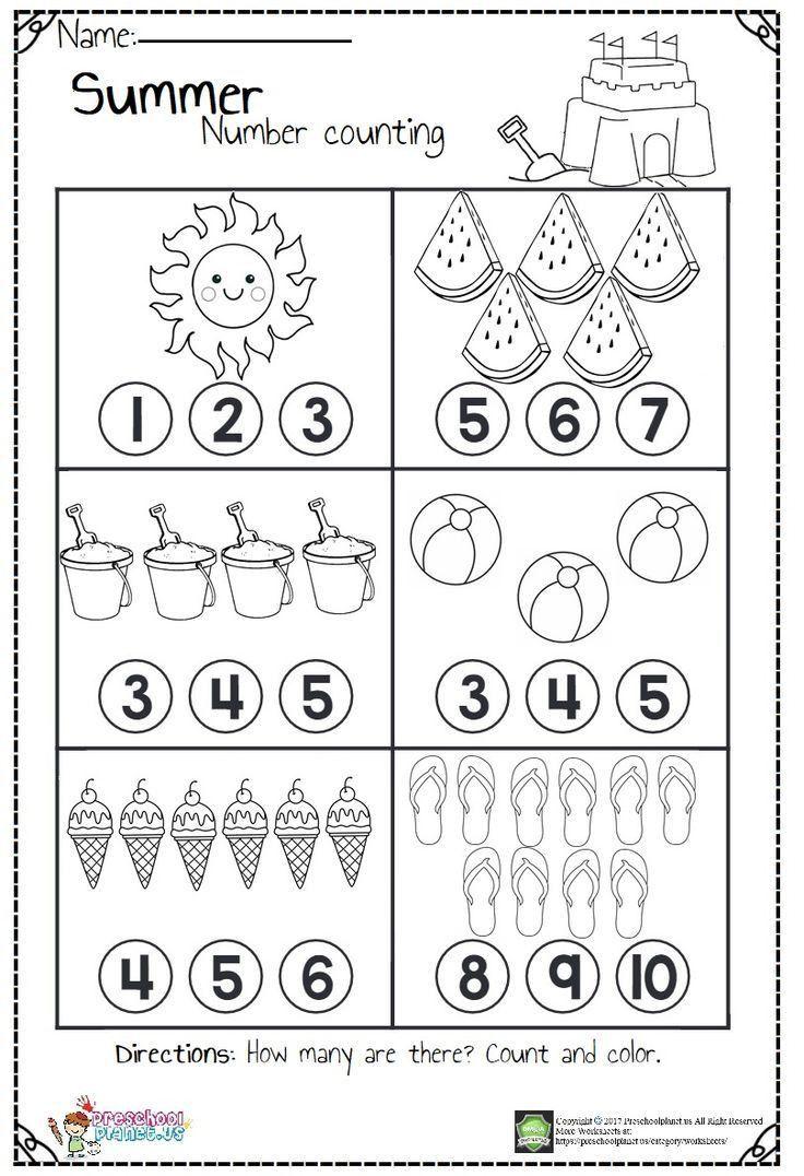 Counting Worksheets For Kindergarten Free Worksheet For Kindergarten Kindergarten Math Worksheets Preschool Math Worksheets Kindergarten Math Counting Pre k addition worksheets pdf