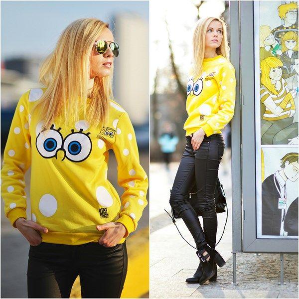 Stylizacja SpongeBob Print Sweatshirt - Domodi.pl