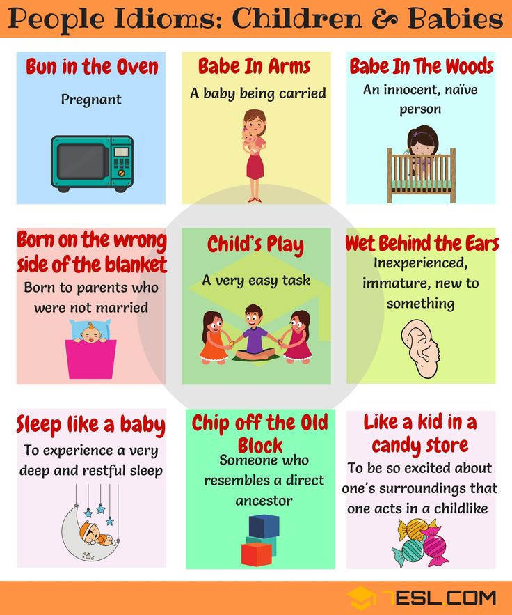 Commonly Used Children and Babies Idioms in English