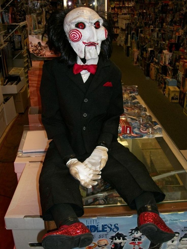 Billy the puppet saw movie prop replica 1 1 scale rare for Movie photos for sale