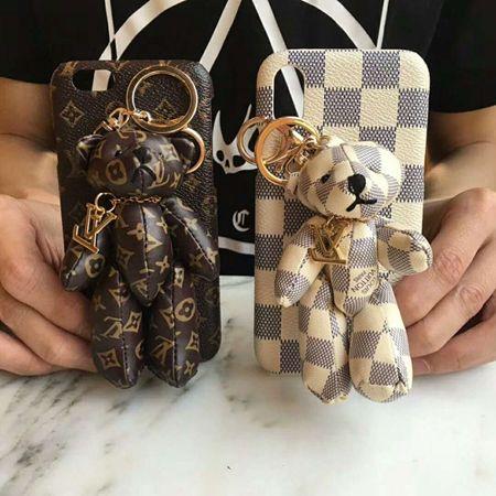 ブランド iPhoneXケース かわいい クマ ぬいぐるみ付き ヴィトン/グッチ/ゴヤール iPhone8/8plusカバー