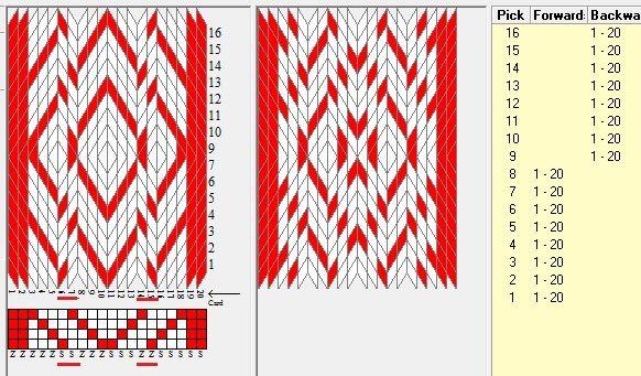 20 tarjetas, 2 colores, secuencia 8F-8B // diseñado en GTT ༺❁