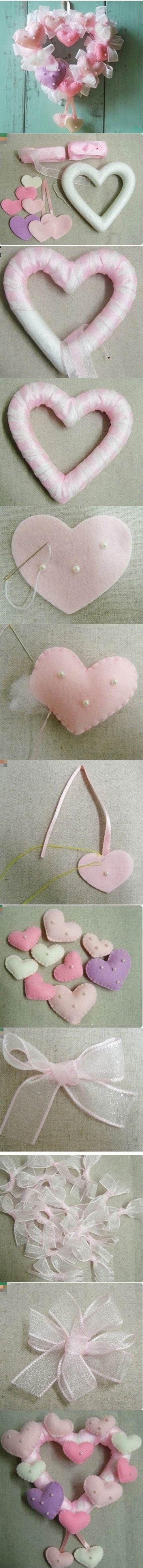 DIY Valentine's Day Heart Shaped Wreath   iCreativeIdeas.com Like Us on Facebook ==> https://www.facebook.com/icreativeideas