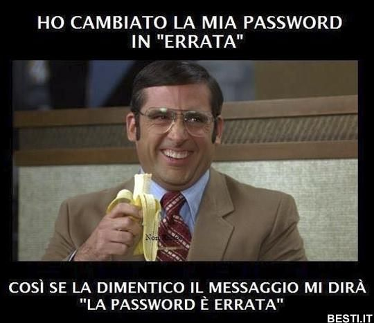 Ho cambiato la mia password