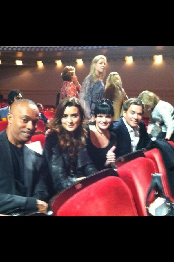 Rocky Carroll, Cote De Pablo, Pauley Perrette and Michael Weatherly from Rocky Carroll's twitter account.