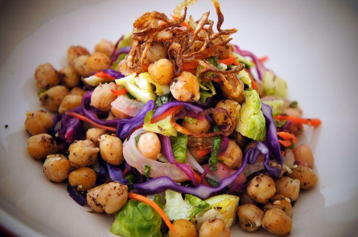Za'atar Flavored Roasted Garbanzo Chickpeas Salad