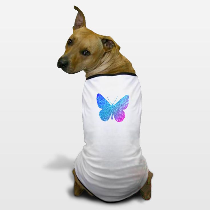 Shop for unique nursery art like the blue glitter butterfly Dog T-Shirts by haroulita on BoomBoomPrints today!  Customize colors, style and design to make the artwork in your baby's room their own!