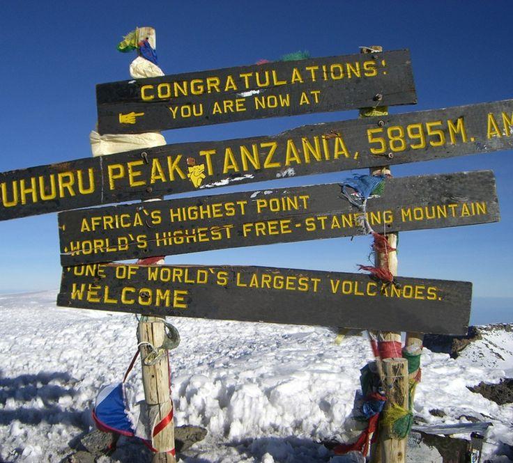 Reaching the peak of Mount Kilimanjaro