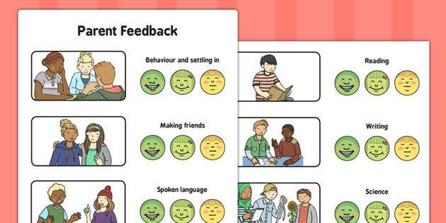 Parent Feedback Evaluation Form